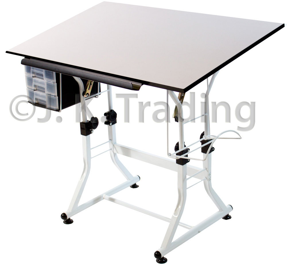 Drafting Table With Adjustable Height And Tilt