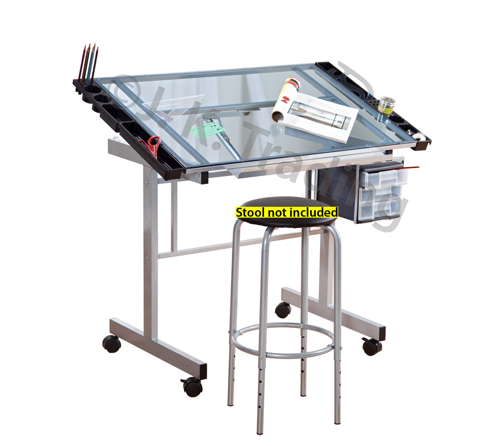 Glass Drafting Table Classic Design