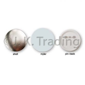 Pin Buttons Plastic Back