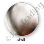 Metal Shell Front Blank Badges