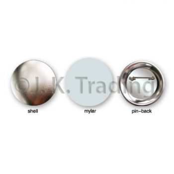Metal Back Pin Button Blank Badges
