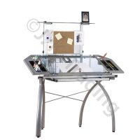 Glass Drafting Table with Tower
