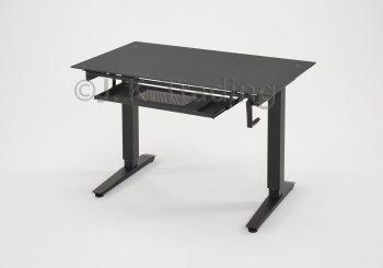 Height Adjustable Standing Desk Glass Top